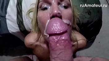 Slut wife facial