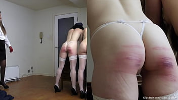 Severe caning.