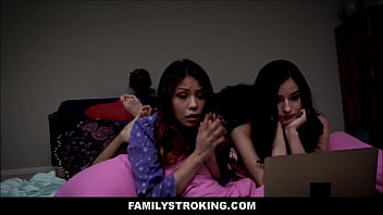 Hot Stepdaughter Emily Willis And Her Best Friend Sami Parker Threesome With Horny Stepdad During s. Party
