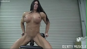 Clit dildo pussy Naked female bodybuilder angela salvagno fucks a dildo