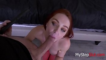 Redhead Daughter Blackmails Father For A Fuck- Lacy Lennon