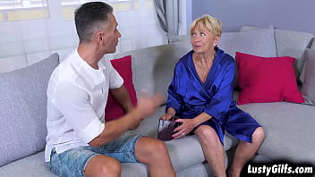 When landlord Mugur comes to collect the rent Malya doesn't have anything to give but her Granny PUSSY.Mugur is as horny as ever that would accepts