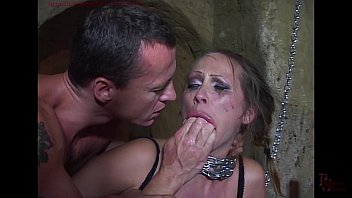 Mandy Bright chained and double penetrated in her cunt. 31 min