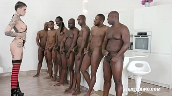 Leigh Raven Faces 7 Black Guys! Now It's Time For Real Gangbang Iv257