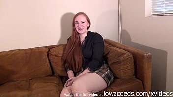 bbw redhead iowa college girl stripping down to her skivvies