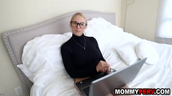 Big ass blonde milf discovers her son watches stepmom porn thumbnail