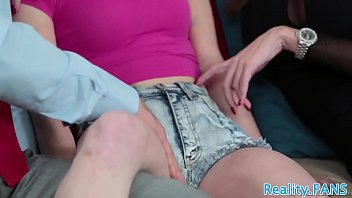 Stepmom beauty shares cock with petite teen