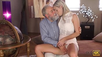 OLD4K. Lovely lassie Shanie Ryan sleeps with teacher after graduating college