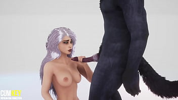 Sexy Girl Breeds with Bad Werewolf | Big Cock Monster | 3D Porn Wild Life thumbnail