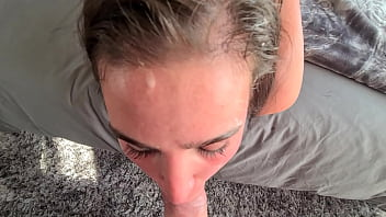 POV sloppy face fucking, spitting and slapping | cum on my toes