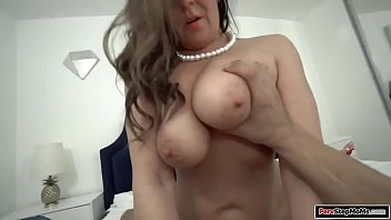 Busty stepaunt seducing her stepnephew