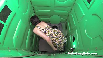 Porta Gloryhole teen gets her fill of cum