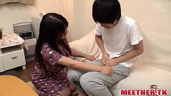 Real japanese mom and son fuck in home hd sex video->