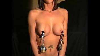 Guitar playing and one breast larger - Extreme breast bdsm of daniella