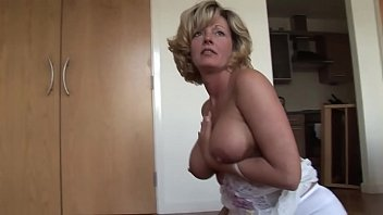 Mature blonde babe with perfect big boobs in lingerie - Full Video on CamBova.com