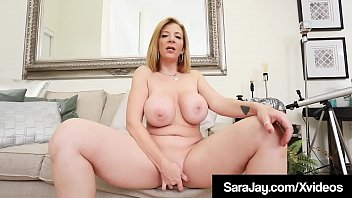 Girl with huge tits masturbates Thick pawg sara jay squirts girly cum while finger banging