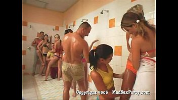 Orgy in the showers