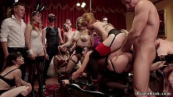 Slaves Serving And Anal Fucking At Party