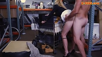 Hot blond milf nailed at the pawnshop