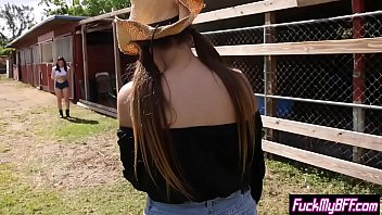 Cowboy girls enjoyed in a nasty threesome sex with a cute teen