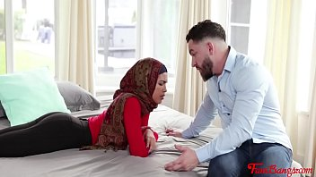 Virgin Muslim Sister In Hijab fucks Brother- Maya Farrell