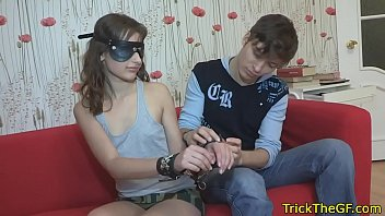 Blindfolded russian gf banged by stranger