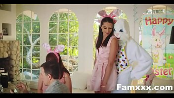 Hot Teen Fucked By Easter Bunny uncle  Famxxx.com