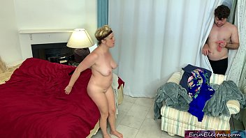 Peeping stepson fucks horny stepmother - Erin Electra
