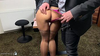boss uses sexy secretary in highheels and stockings doggystyle, Business Bitch