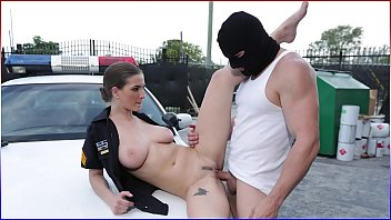 Hot Cop Fucked On The Hood Of The Car, A Hot