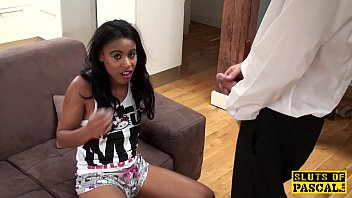 British ebony amateur dominated with roughsex