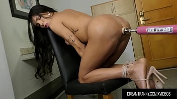 Tranny sex vid categories Horny transsexual roberta cortes has her ass reamed by a dildo machine