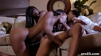 Passionate threesome with black BFFs