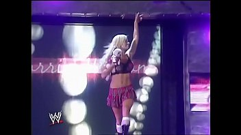 Torrie Wilson Vs Candice Michelle. Paddle On A Pole Match.