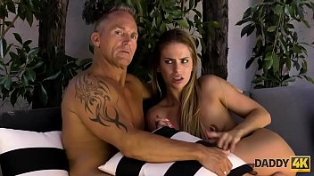 DADDY4K. Hottie enjoys hard old dick while her boyfriend is away