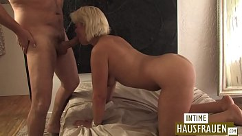 Blonde Milf shaved pussy