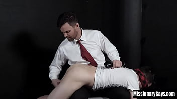 Young mormon spanked and fingered