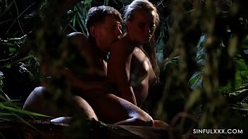 Sensual Couple Save Broken Relationship in the Jungle