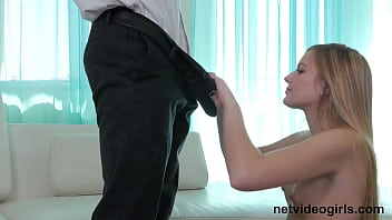 Super shy super petite cutie turns out to be a suck monster