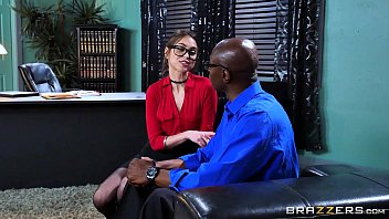 CoverBrazzers - Riely Reid sucks some big black cock