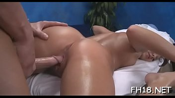 Sexy 18 year old babe gets fucked hard by her massage therapist