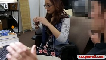Tight amateur brunette coed pounded by pervert pawn dude