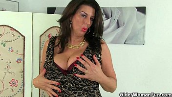Uk big tits cougar - Britains best assets: stockings, high heels and big tits