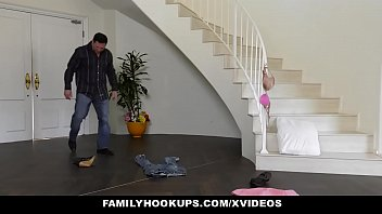 FamilyHookUps - Stepdad Railed Stepdaugter Teen Pussy