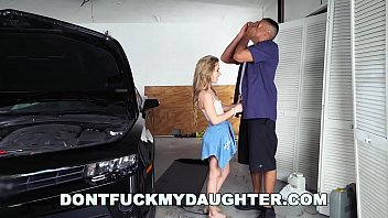 Teen fucked while working 18yo teen lilly ford fucks daddys mechanic friend dfmd15754