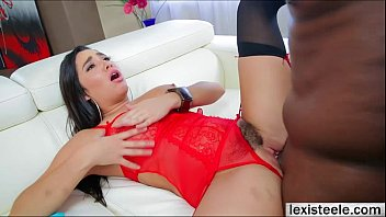 Slutty brunette babe Karlees first interracial scene with Lex preview image