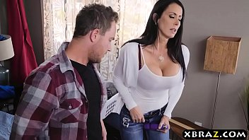 Stepmom with big tits fucks stepson while dad is downstairs - 69VClub.Com