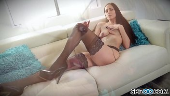 Stunning Beauty Desiree Night in her first Solo Masturbation