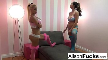 Alison Tyler and her friend have lesbian fun