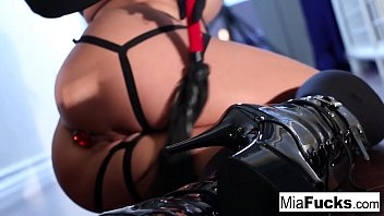 Sexy Mia Lelani plays with candles until she squirms in orgasm